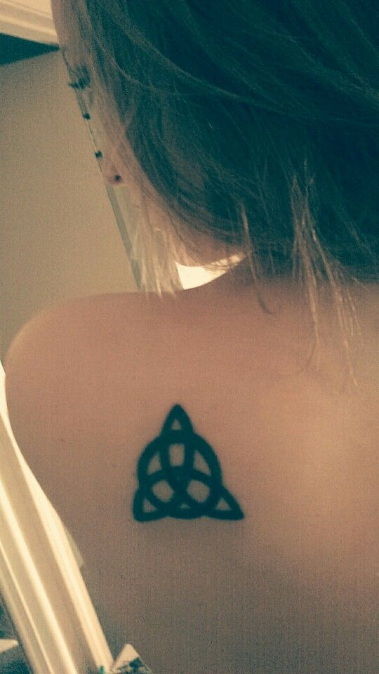 My newest triquetra tattoo  Its a tradition in my family :) and i love it #triquetra