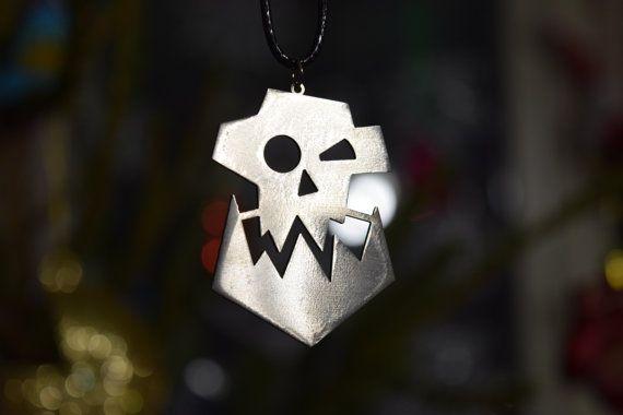 Price 1,9 $ usd. Warboss Orc Skull Pendant Stainless Steel от Warhammer40kShop