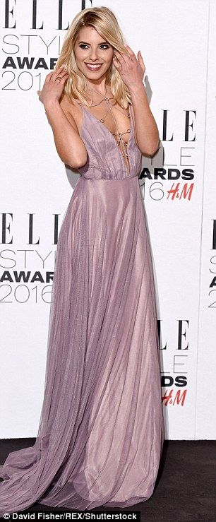 'Newly single' Mollie King goes braless in extreme plunging lace-up gown at Elle Style Awards    Daily Mail Online