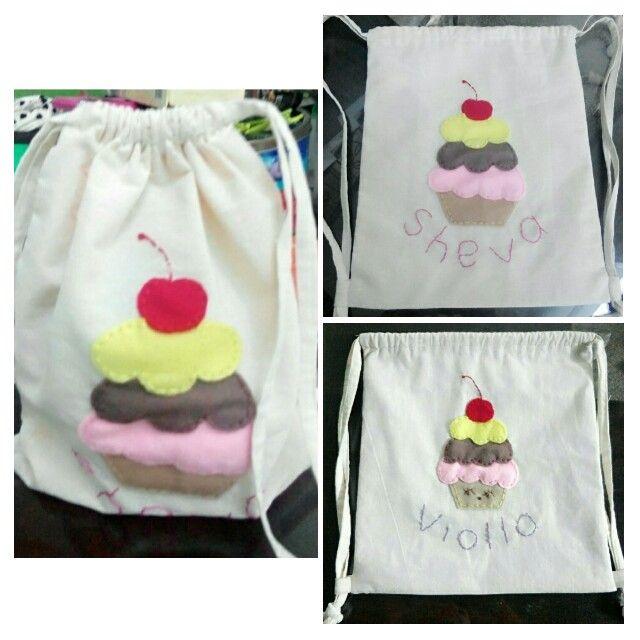 Drawstring bag for kids party, goody bag, favor bag, gift bag.