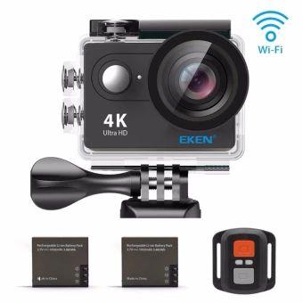 ราคาถูก  EKEN H9R 4K Action Camera, Full HD Wifi Waterproof Sports Camerawith 4K25/ 1080P60/ 720P120fps Video, 12MP Photo and 170 Wide-AngleLens, includes 18 Mountings Kit, 2 Batteries (Black) - intl  ราคาเพียง  5,590 บาท  เท่านั้น คุณสมบัติ มีดังนี้ 2-inch FHD Display—High quality display for preview andplayback. Get the full spectrum of the features with easy settingadjustments, you can do it all on your EKEN H9R. High Resolution—Video: 4K25fps/ 2.7K30fps/ 1080p60fps/720p120fps. Photo…