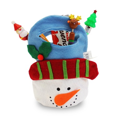 Punguta cadou - Om de zapada - 10 RON    Mos Craciun va veni si anul acesta si iti va lasa cadoul in cea mai simpatica punguta de cadou.    Punguta cadou - Om de zapada este confectionata din panza.    Produsele din imagine sunt cu titlu informativ.