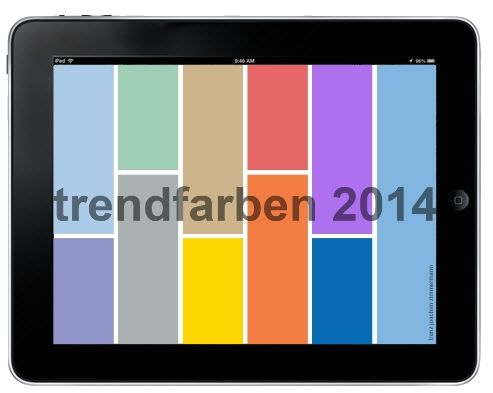 Diese Pinnwand hat die Trend-Farben 2014 zum Thema. Der gesamte Text ist auf mehrere Pins verteilt. Beginne beim letzten Bild Pferd, dann Amsel etc. .