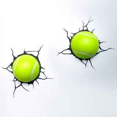 For Evie - 3D Wall Art Nightlight - Tennis Ball