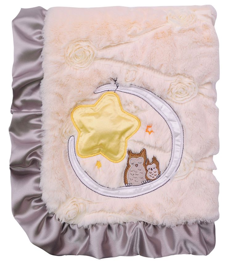 Best shower gift, Owl On the Moon Baby Blanket Generic - Merdy Manufacturing and Importing Inc