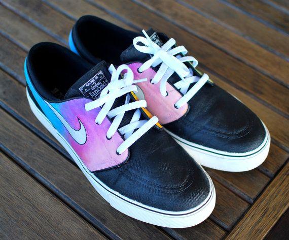 Tye Dye Nike Zoom Stefan Janoski Skate Shoes by BStreetShoes, $169.00
