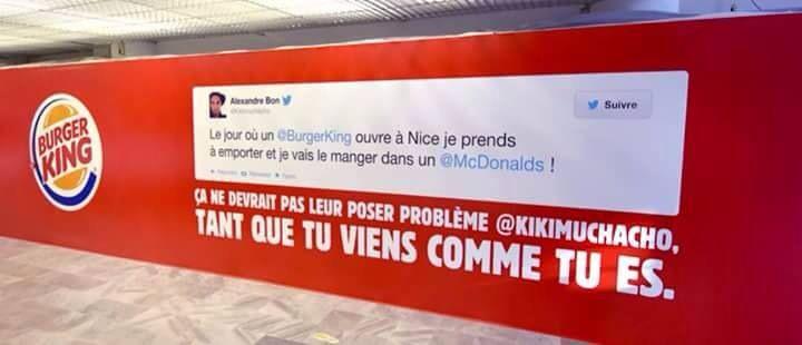 Burger King tacle Mc Donald