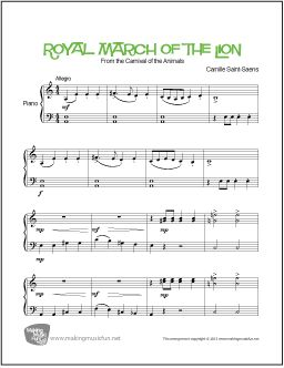 The 25 best piano sheet music pdf ideas on pinterest free piano piano sheet music pdf 1 see more print and download royal march of the lion from carnival of the animals by fandeluxe Images