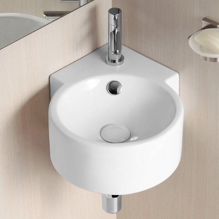 Ceramic Ii Vitreous China Circular Corner Bathroom Sink With Overflow Spulbecken Design Eckwaschbecken Mini Waschbecken Gaste Wc