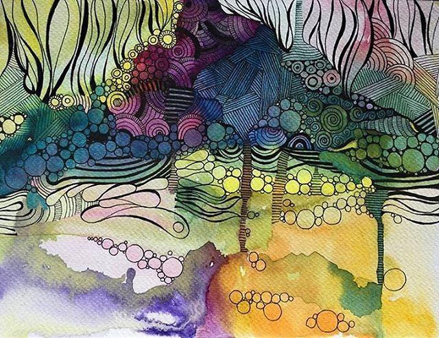abstract  18x23cm www.facebook.com/AnnaLipowskaArt (2016)  #inprogress #linework #micronpen #doodle #abstract #interior #penart #decor #poster #daily_art #sketch #акварель #aquarelle #illustration #drawing #watercolor #painting #ink #art #artwork #ilustrator #artist #arte #scandinaviandesign #modernart #zenart #colorful