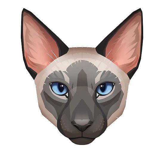 """Siamese Cat Face"" by Paula Lucas."