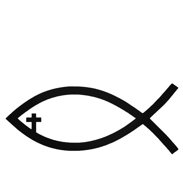 Ichthys Fish Christianity Decal Sticker  BallzBeatz . com