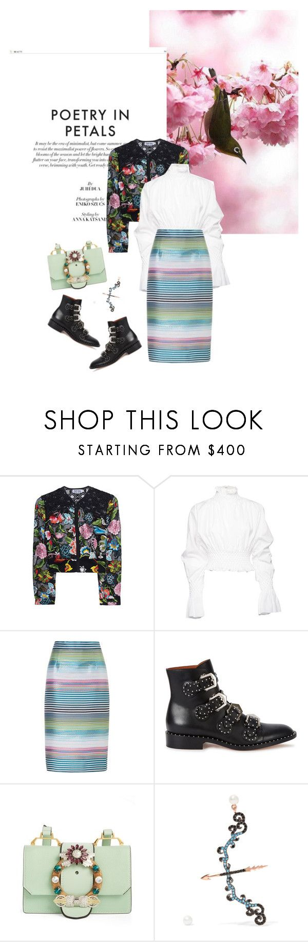 Spring/Summer 2017: Trendy and chic by ecletica-and-chic on Polyvore featuring Kenzo, Charo Ruiz, ESCADA, Givenchy, Miu Miu and Aamaya by Priyanka