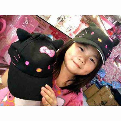 TOKO SOUVENIR ONLINE                                                           KOLEKSI HELLO KITTY : topi anak hk gliter