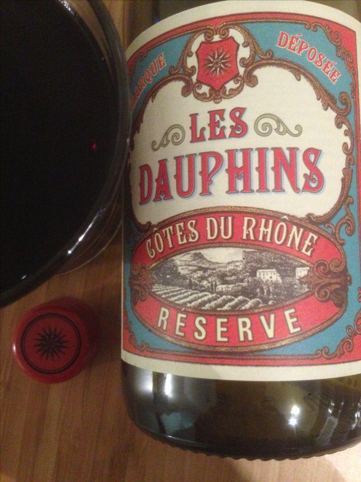 Les Dauphins | côtes du rhône red | france | 3.25 stars | rich and berryful