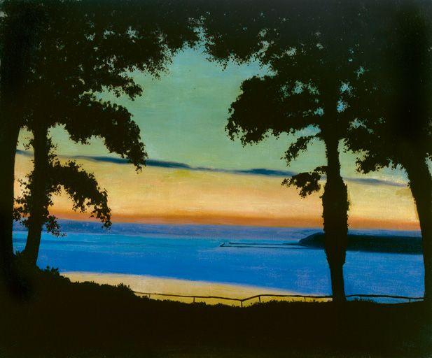 Félix Vallotton, Soir, Côte de Grâce, 1917, oil on canvas, 54 x 65 cm, private collection