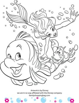 Coloring Page Little Mermaid Pages