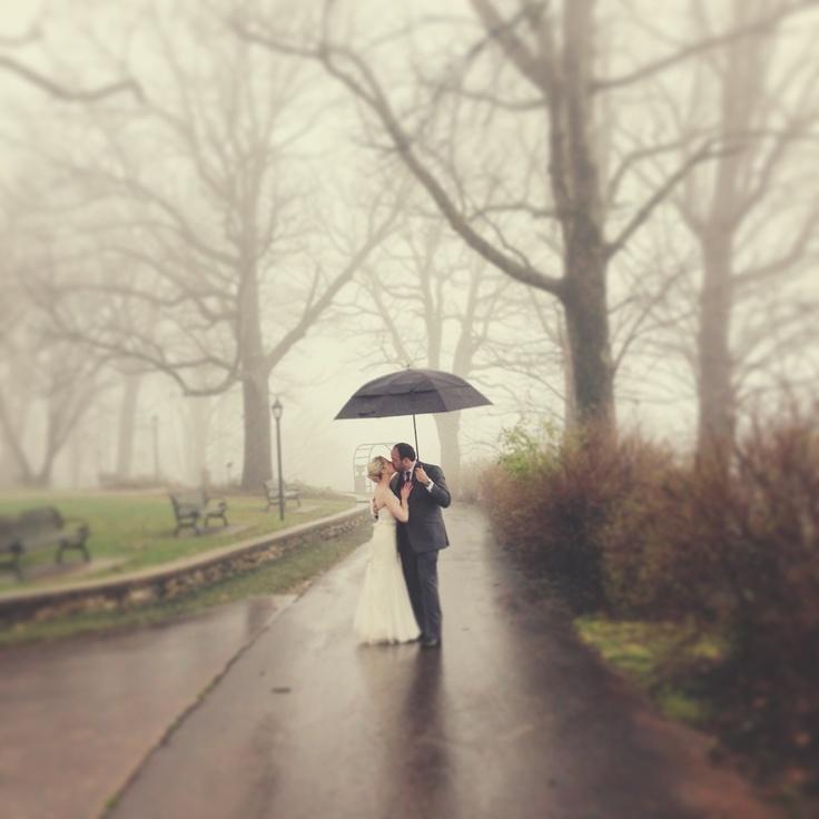 iPhone rainy day wedding photo! Sweet Roots Photography