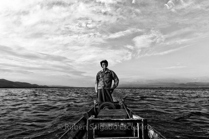 Photo: @rubensalgadoescudero // '  A man drives his motor boat down Inle lake a freshwater lake located in the Nyaungshwe Township of Taunggyi District of Shan State part of Shan Hills in Myanmar. Although the lake is not large it contains a number of endemic species. Over twenty species of snails and nine species of fish are found nowhere else in the world.' by thephotosociety