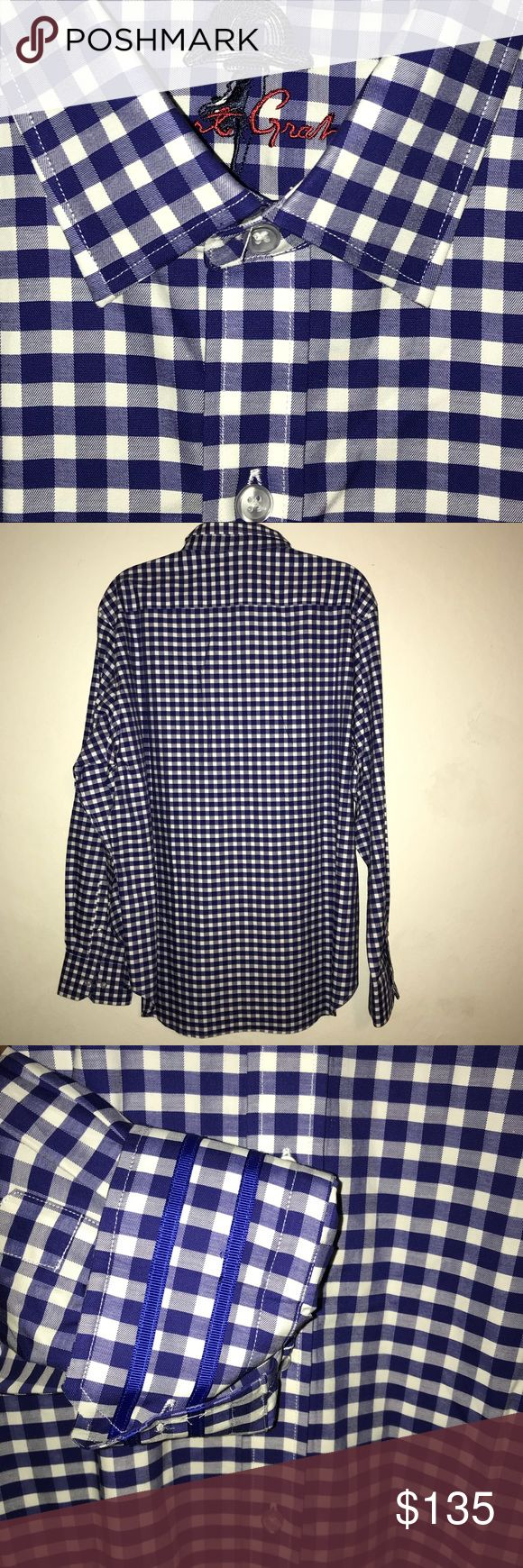 """ROBERT GRAHAM Plaid Check Button Front SHIRT For sale:ROBERT GRAHAM MSRP $198 Blue & White Plaid Check Button Front SHIRT. Size Medium. The color of the shirt is purplish blue. 100% cotton. Dimensions: Pit to Pit: approximately 22"""" Length: approximately 29"""" Sleeve: approximately 35"""" Interested? Robert Graham Shirts Casual Button Down Shirts"""