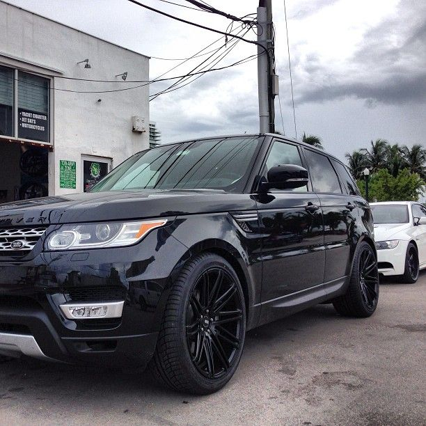 South Beach Auto Couture Inc 2014 Range Rover HSE with 22 Matte