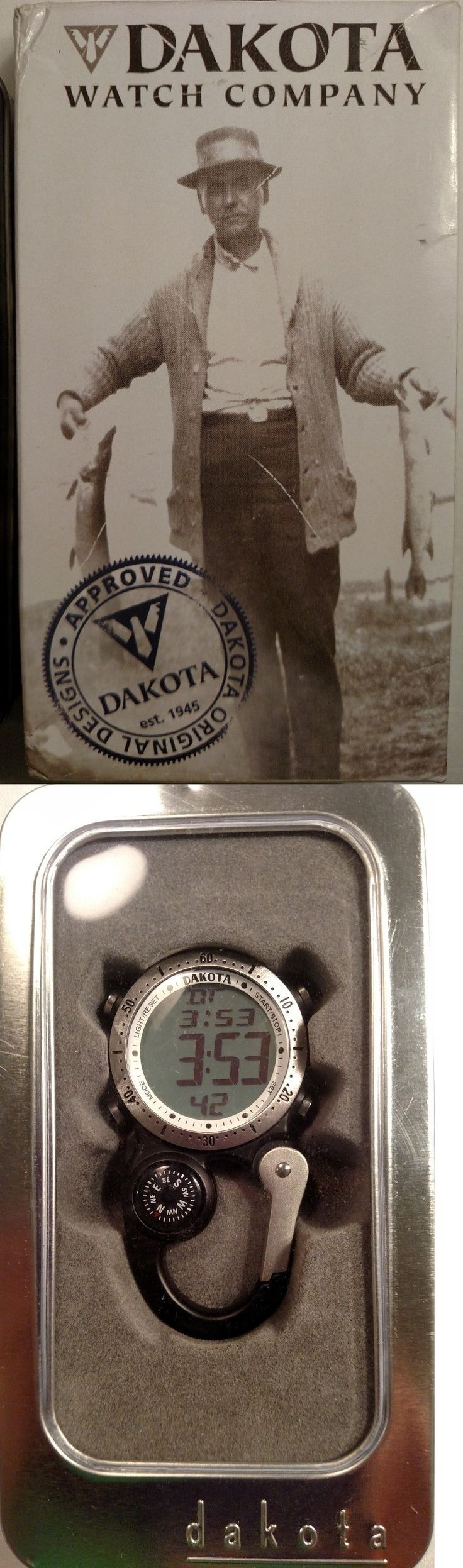 Key Ring Watches 173699: Dakota Watch Company Silver And Black Digi Clip Watch W Compass Free Shipping -> BUY IT NOW ONLY: $35.99 on eBay!