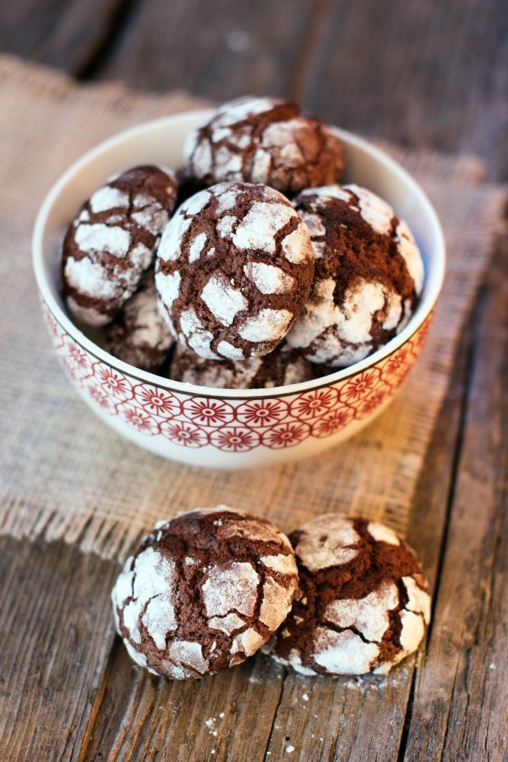 Popraskané čokoládové crinkles