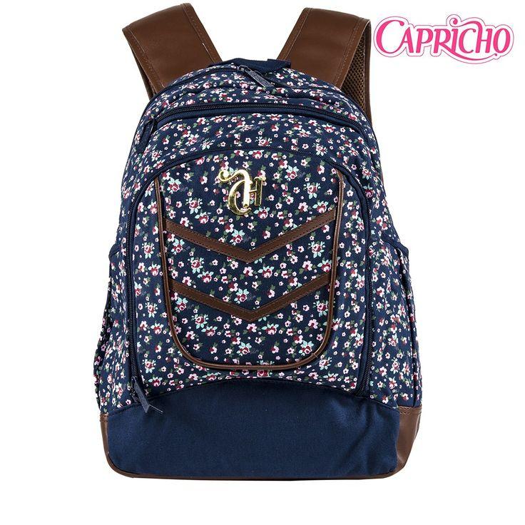 Bolsa Escolar Feminina Rock : Melhores ideias de mochila capricho no