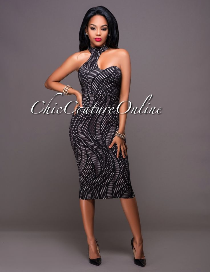Chic Couture Online - Akira Black Nude Textured Choker Dress, $55.00 (http://www.chiccoutureonline.com/akira-black-nude-textured-choker-dress/)