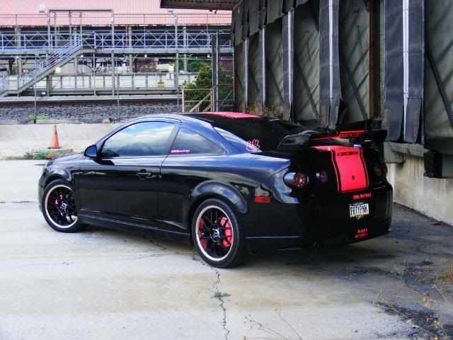 Black and pink chevrolet cobalt