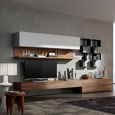Elegant and modern 'Lush' TV Unit. Bookshelf, Italian piece with great materials, high quality and luxury. My Italian Living.