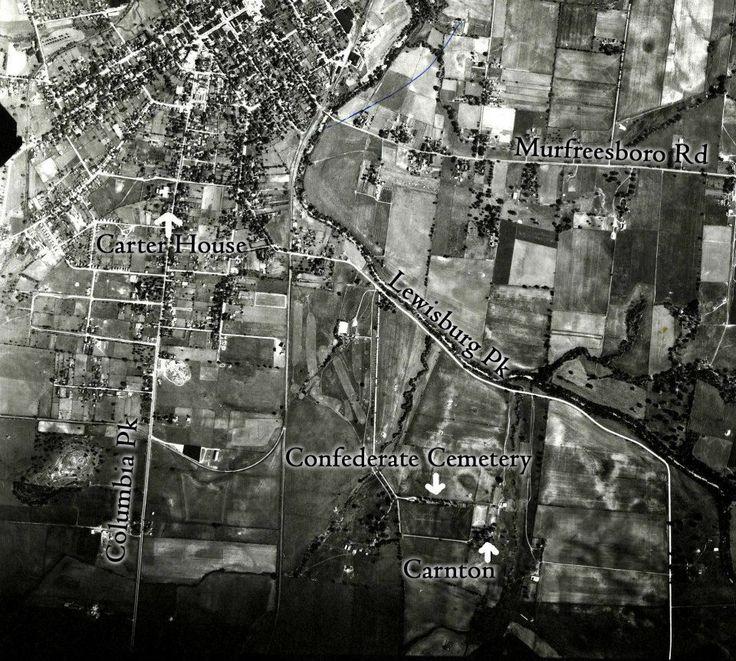 A 1938 Arial view photo of Franklin,Williamson Co. Tenn