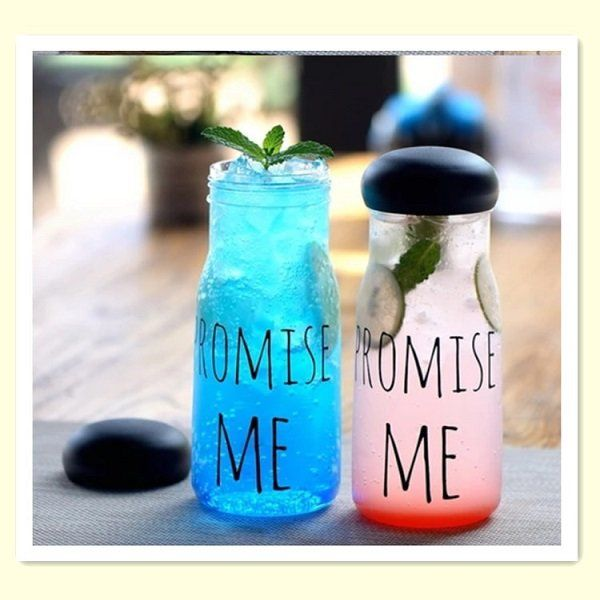 Promise Me Korea Style Water Glass 650ml Fashion Fruit Sport Bottle