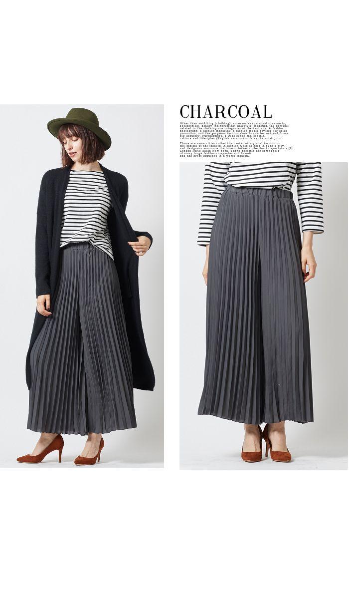 ウエストゴムプリーツワイドパンツ通販 |titivate【公式】20代・30代・40代レディースファッション・洋服通販