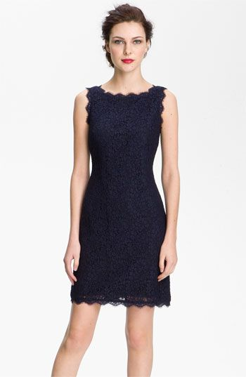 Lovely Lace Sheath Dress in my fav color, Navy Blue!