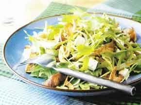 Japanse mizuna salade