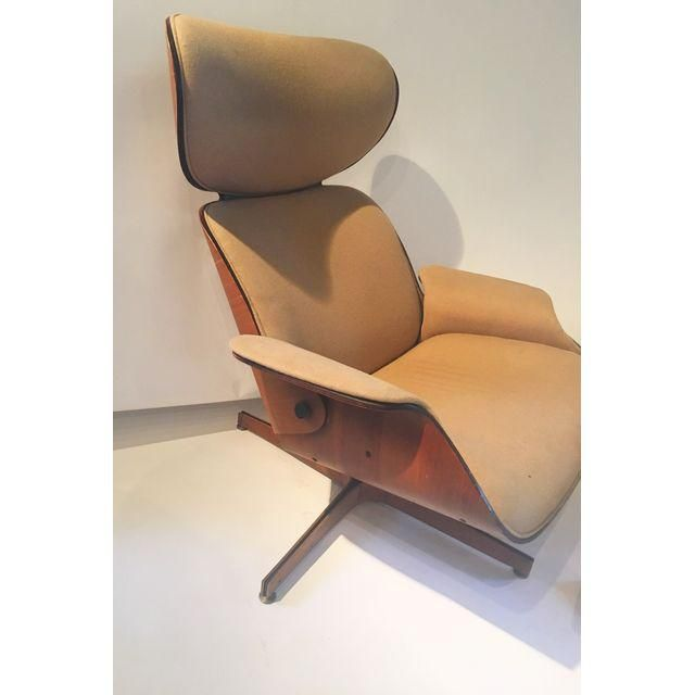 Image of Eames Style Lounge Chair & Ottoman