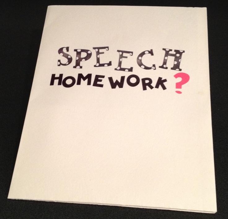 Speech Homework: 25 Alternatives to Speech Folders.