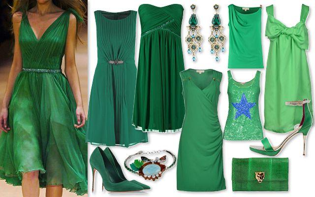 Abiti e accessori verde smeraldo 2015