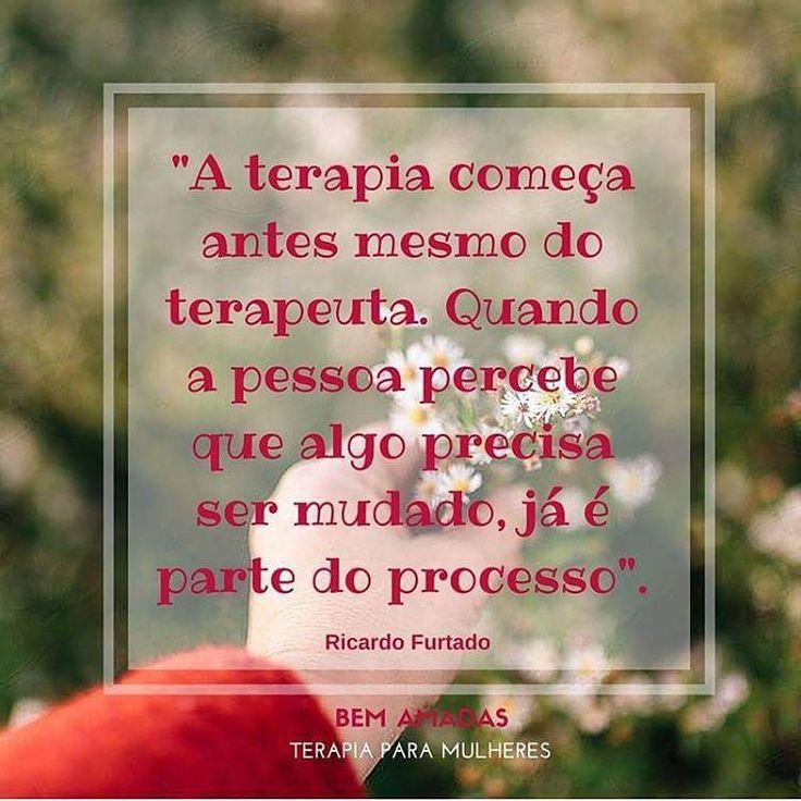 Terapia é a mudança que você promove!   O processo terapêutico se torna bem…