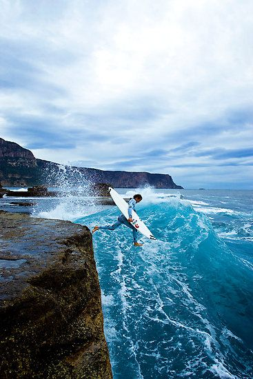 Ship Stern Bluff (also known as Devil's Point) is a surfing location on the south eastern coast of Tasmania on the Tasman Peninsula. Ship Stern Bluff is a mecca for surfers, who consider it one of the heaviest breaks in the world.