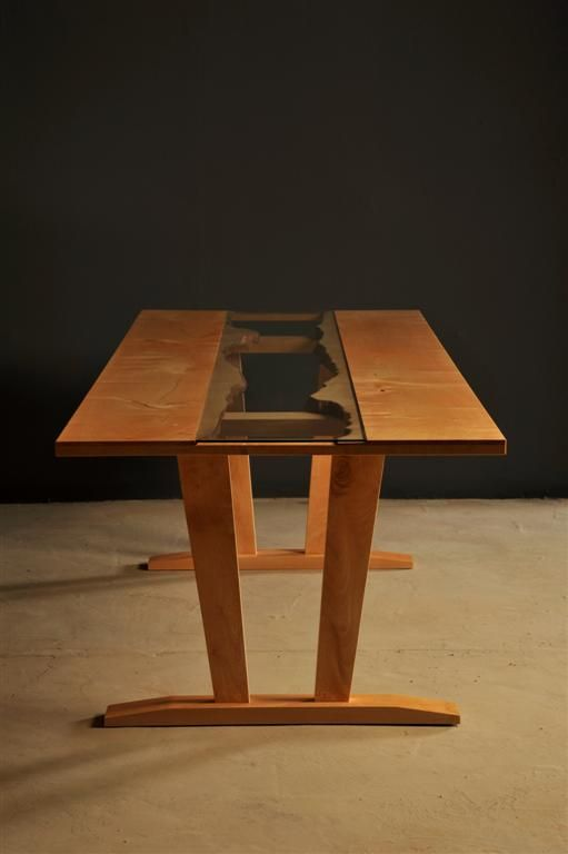 Live edge dining table by Heartwood Furniture