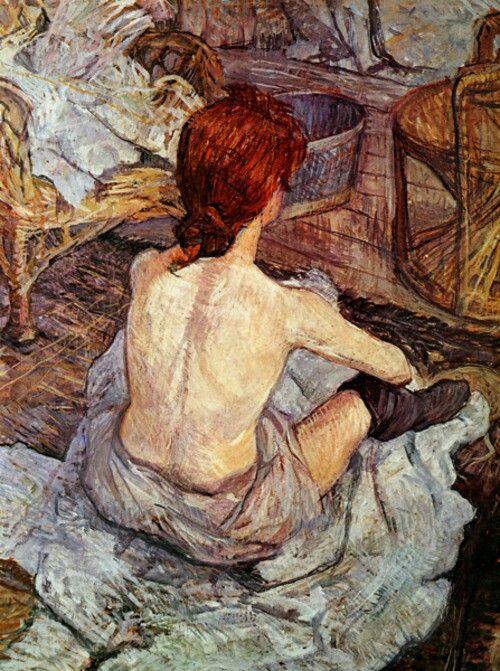 "Toulouse Lautrec- ""After bathing"""
