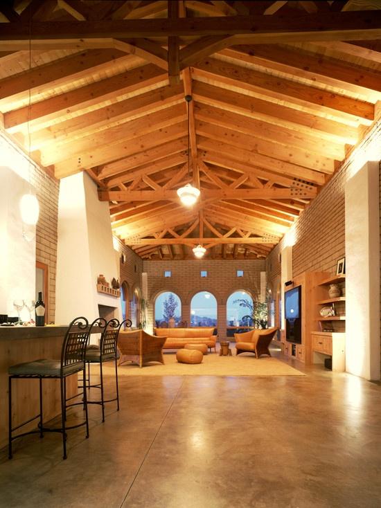 Mediterranean Living Room Outdoor Kitchen Design, Pictures, Remodel