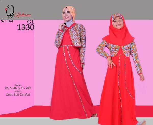 Jual beli Sarimbit Gamis Wanita Rahnem GM 1330 Merah - Promo Ramadhan Sale di Lapak Aprilia Wati - agenbajumuslim. Menjual Baju Muslim Couple - Sarimbit Gamis Wanita Rahnem GM 1330 Merah - Promo Ramadhan Sale Harga : Rp. 324.000    Keterangan Produk:  Kode : GL-1330 READY : ******* Pink (XS, S, M, XL, XXL) ******* Merah (S)  Pilihan Warna: Pink & Merah  Harga : Rp 165.000,- Size : XS, S, M, L, XL, XXL  Rahnem Anak GH-1330 Kode : GH-1330 Warna : Merah & Pink READY : Merah (S,XL...