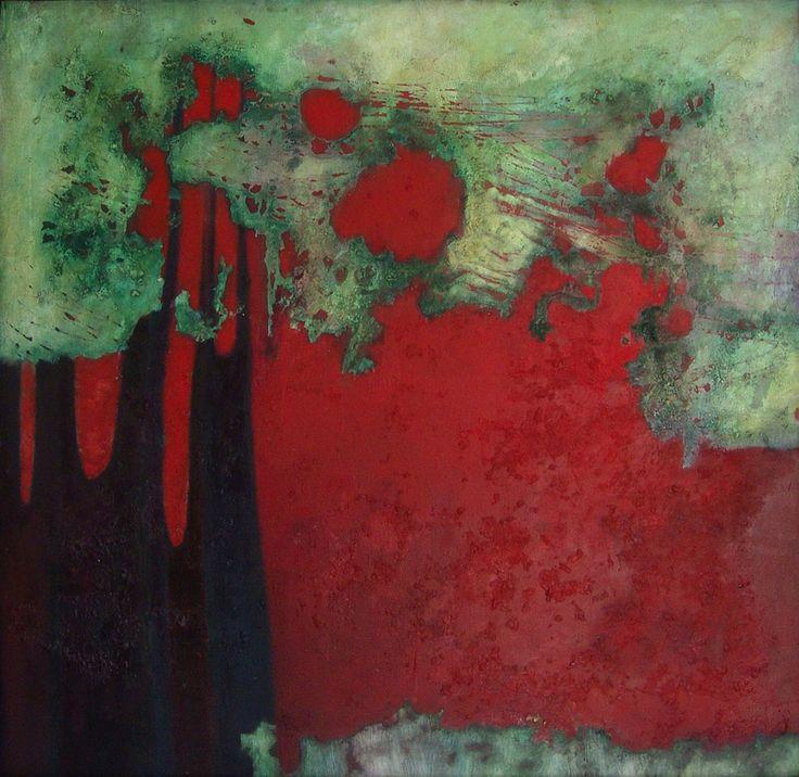 """Sunset"" Oil on canvas - 90x90 cm"