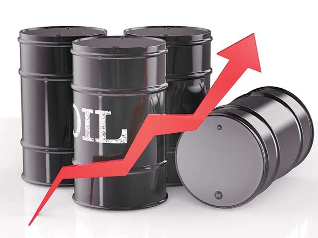 Crude oil futures were trading higher during the noon trade in the domestic market on Thursday as investor's booked fresh positions in the energy commodity after a report showed a decline in US crude stockpiles last week, easing concerns over a global supply glut.