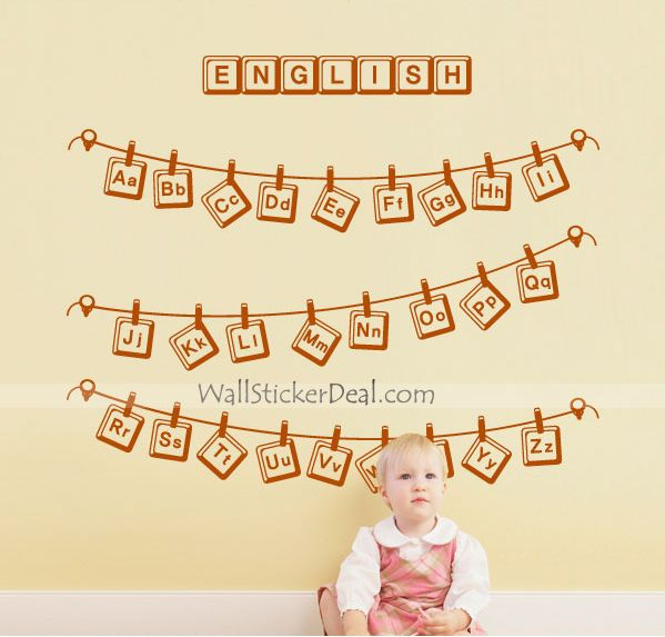 English Quote Wall Stickers