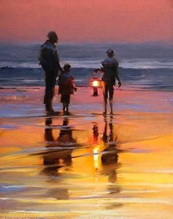 Image result for lantern glow on figures in oil painting