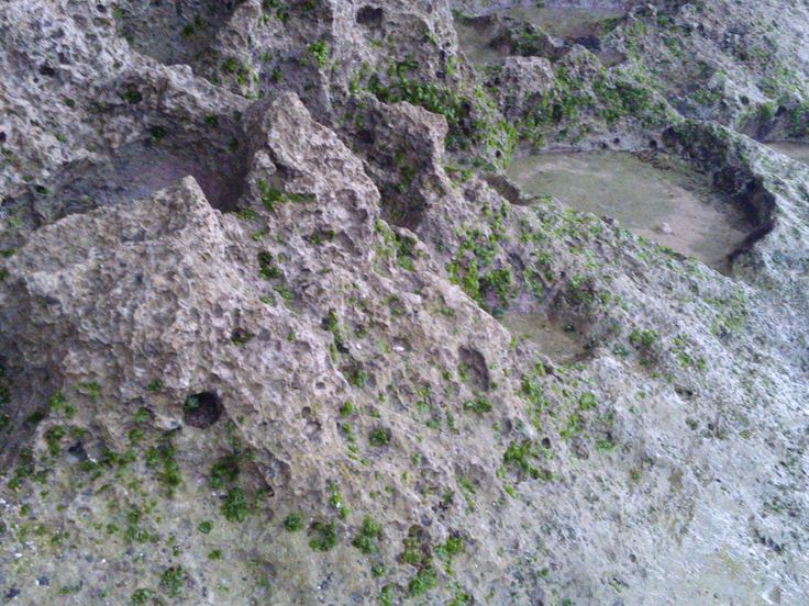 View of the Indrayanti beach Yogyakarta